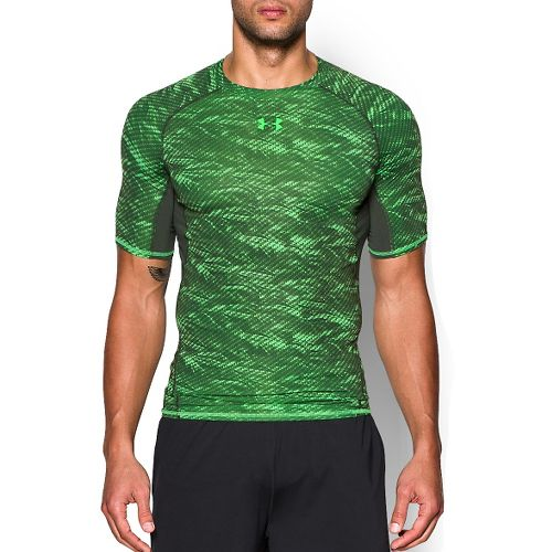 Mens Under Armour HeatGear Armour Compression Printed T Short Sleeve Technical Tops - Laser ...