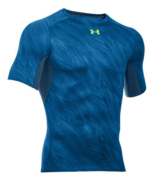 Mens Under Armour HeatGear Armour Compression Printed T Short Sleeve Technical Tops - Squadron ...