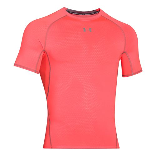 Mens Under Armour HeatGear Compression Printed T Short Sleeve Technical Tops - After Burn XXL ...