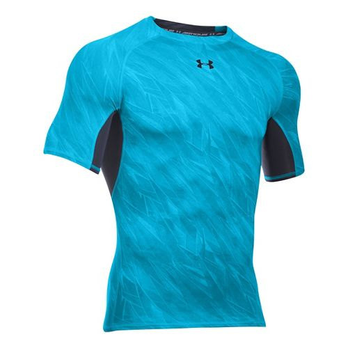 Mens Under Armour HeatGear Armour Compression Printed T Short Sleeve Technical Tops - Meridian ...
