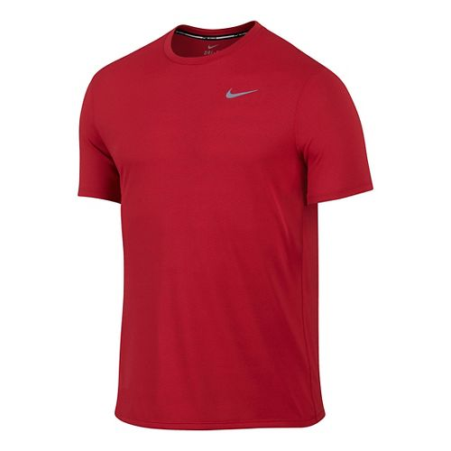 Mens Nike Dri-FIT Contour Short Sleeve Technical Tops - University Red M