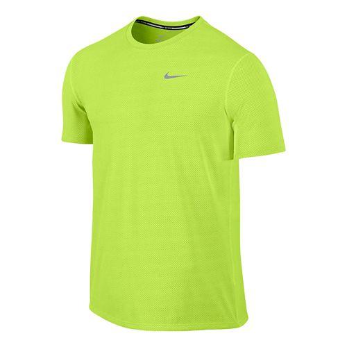 Mens Nike Dri-FIT Contour Short Sleeve Technical Tops - Orange L