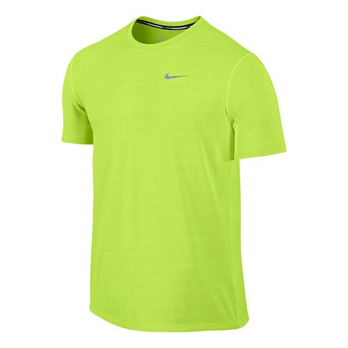 Mens Nike Dri-FIT Contour Short Sleeve Technical Tops - Royal S