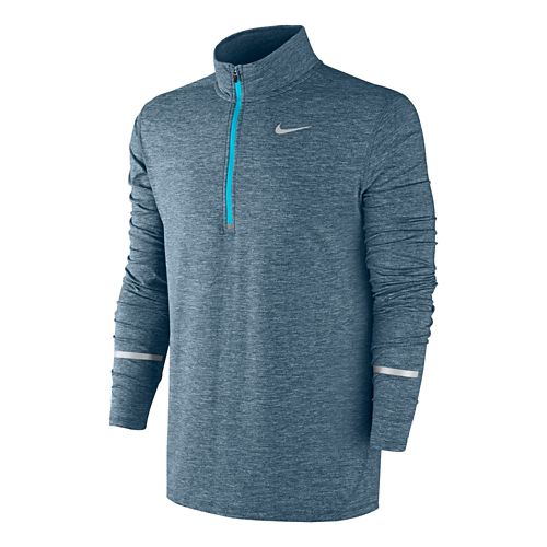 Mens Nike Dri-FIT Element Long Sleeve Half Zip Technical Tops - Squadron Blue M