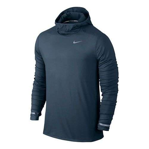 Mens Nike Dri-FIT Element Hoodie Long Sleeve Hooded Technical Tops - Squadron Blue M