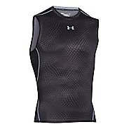 Mens Under Armour HeatGear Compression Printed T Sleeveless Technical Tops