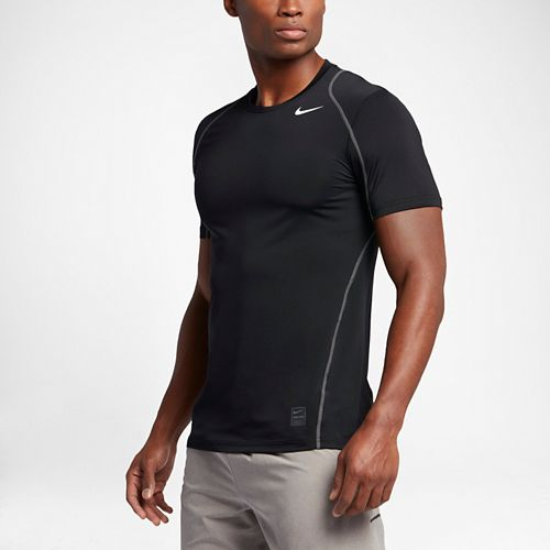 Mens Nike Hypercool Fitted Short Sleeve Technical Tops - Black XL