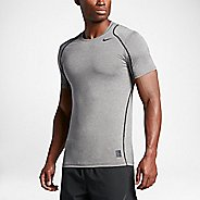 Mens Nike Hypercool Fitted Short Sleeve Technical Tops - Carbon Heather S
