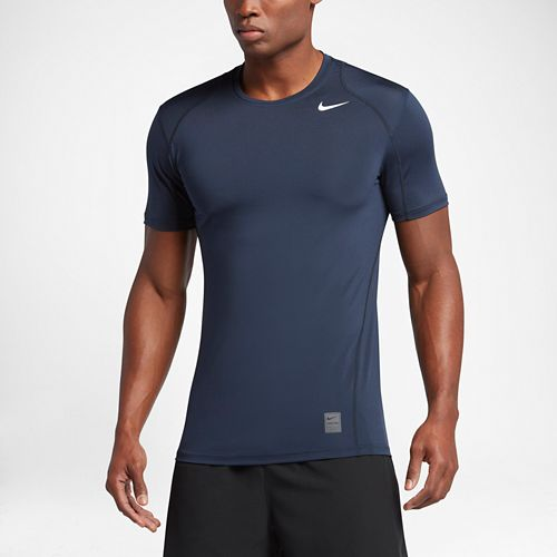 Mens Nike Hypercool Fitted Short Sleeve Technical Tops - Deep Blue L