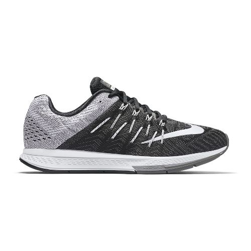 Mens Nike Air Zoom Elite 8 Running Shoe - Black/White 12