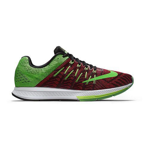 Mens Nike Air Zoom Elite 8 Running Shoe - Green/Bright Crimson 11