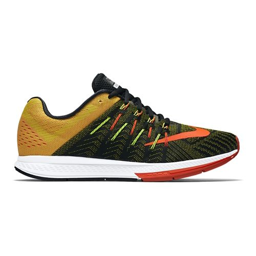 Mens Nike Air Zoom Elite 8 Running Shoe - Black/Yellow 11
