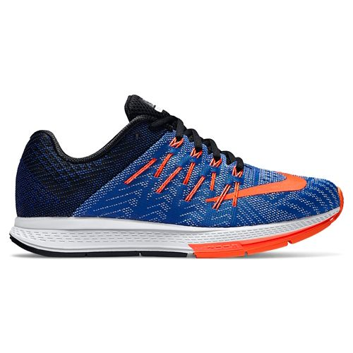 Womens Nike Air Zoom Elite 8 Running Shoe - Blue/Orange 10