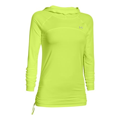Womens Under Armour Sunblock 50 Long Sleeve Hooded Technical Tops - X-Ray XL