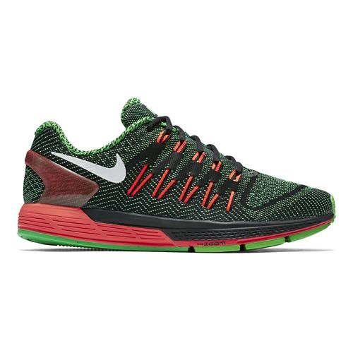 Mens Nike Air Zoom Odyssey Running Shoe - Black/Green 11