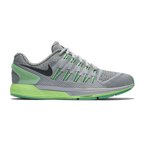 Mens Nike Air Zoom Odyssey Running Shoe - Grey/Green 9