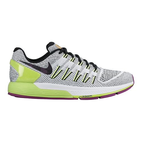 Mens Nike Air Zoom Odyssey Running Shoe - White/Volt 8