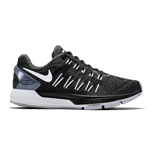 Womens Nike Air Zoom Odyssey Running Shoe - Black/White 6.5