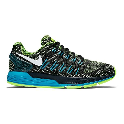 Womens Nike Air Zoom Odyssey Running Shoe - Black/Green 11