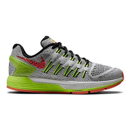 Womens Nike Air Zoom Odyssey Running Shoe - White/Volt 10.5