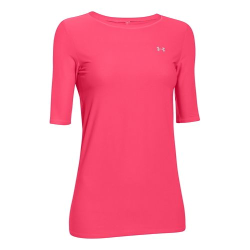 Womens Under Armour Sunblock 30 Half Sleeve Short Sleeve Technical Tops - Pink Shock M