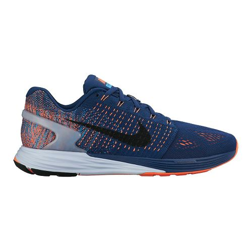 Mens Nike LunarGlide 7 Running Shoe - Blue/Orange 9