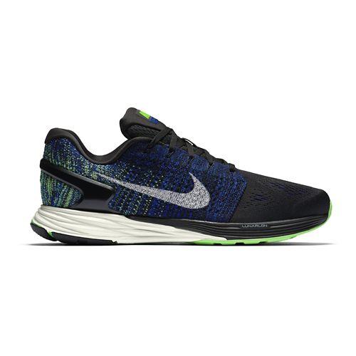 Mens Nike LunarGlide 7 Running Shoe - Navy/Orange 9.5