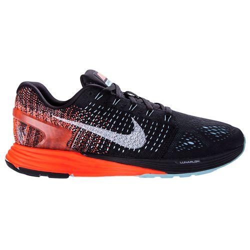 Womens Nike LunarGlide 7 Running Shoe - Black/Orange 11