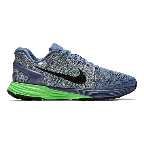 Womens Nike LunarGlide 7 Running Shoe - Fog/Green 6.5