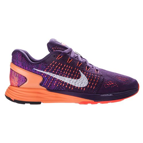 Womens Nike LunarGlide 7 Running Shoe - Purple/Sunset 6.5