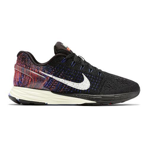 Womens Nike LunarGlide 7 Running Shoe - Purple/Sunset 9.5