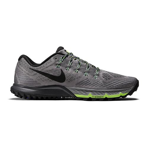 Mens Nike Air Zoom Terra Kiger 3 Trail Running Shoe - Grey/Black 8