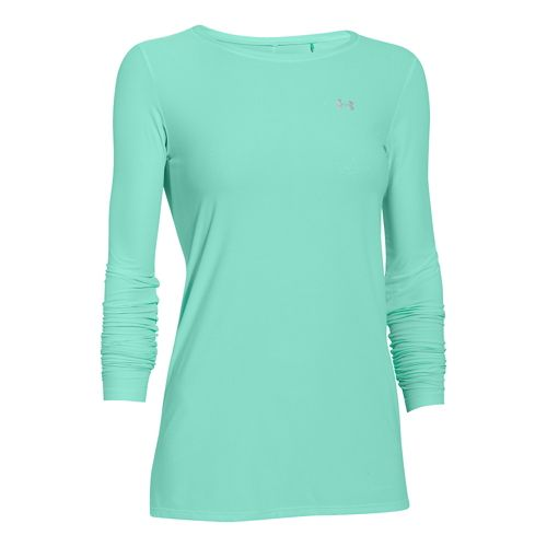 Womens Under Armour Sunblock 30 Long Sleeve No Zip Technical Tops - Crystal L