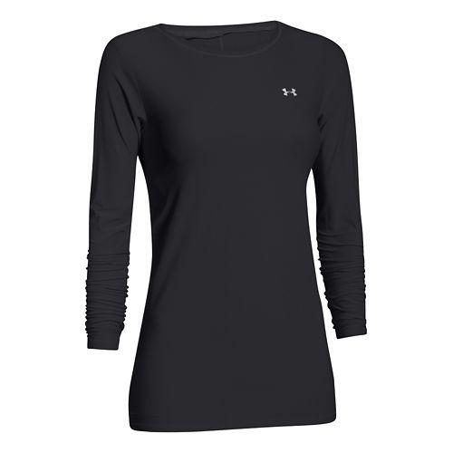 Womens Under Armour Sunblock 30 Long Sleeve No Zip Technical Tops - Black XS