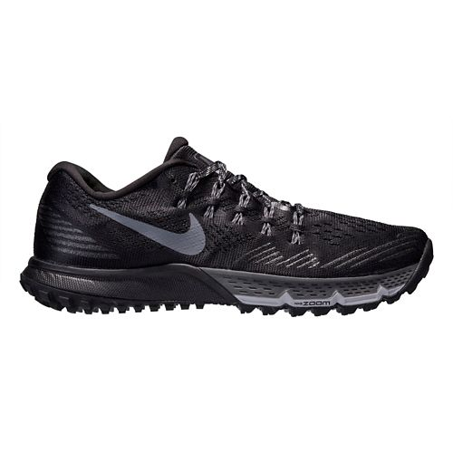 Womens Nike Air Zoom Terra Kiger 3 Trail Running Shoe - Black/Grey 10