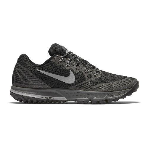 Mens Nike Air Zoom Wildhorse 3 Trail Running Shoe - Black/Grey 8.5