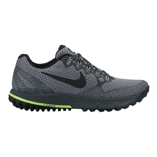 Womens Nike Air Zoom Wildhorse 3 Trail Running Shoe - Grey/Black 7.5