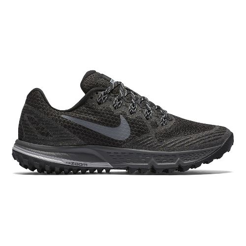Womens Nike Air Zoom Wildhorse 3 Trail Running Shoe - Black/Grey 10