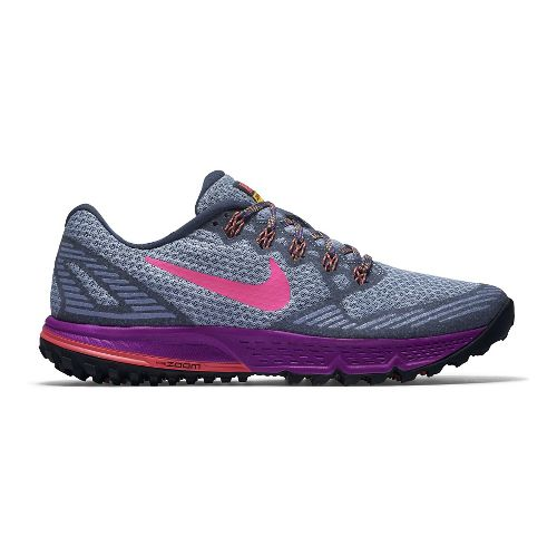 Womens Nike Air Zoom Wildhorse 3 Trail Running Shoe - Grey/Black 10.5