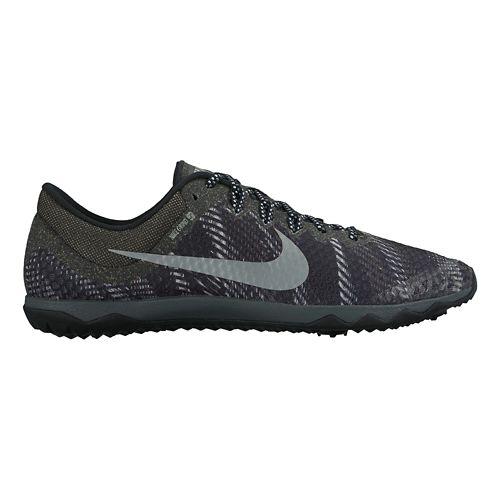 Mens Nike Zoom Rival Waffle Cross Country Shoe - Black/Grey 4