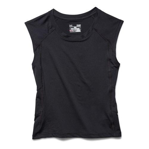 Womens Under Armour HeatGear Alpha Muscle Crop Tee Sleeveless Technical Tops - After Glow/Gray ...