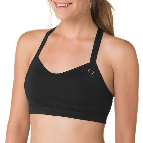 Womens Moving Comfort Uprise Crossback Sports Bra - Poppy Cosmo M