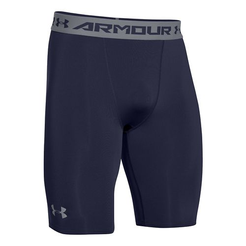 Mens Under Armour HeatGear Compression Short Long Boxer Brief Underwear Bottoms - Midnight Navy ...