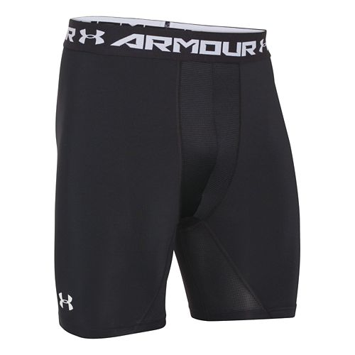 Mens Under Armour HeatGear Compression Shorts With Cup Pocket Boxer Brief Underwear Bottoms - ...