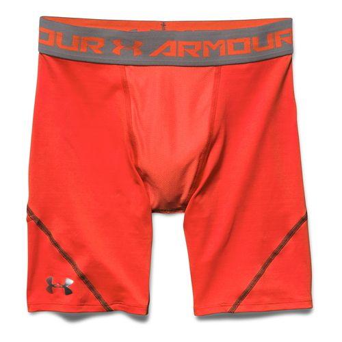 Mens Under Armour HeatGear Stretch Compression Short Boxer Brief Underwear Bottoms - Bolt ...