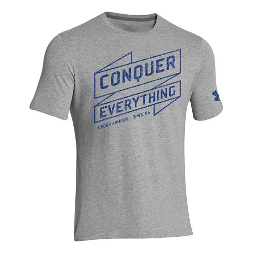 Mens Under Armour Conquer Everything T Short Sleeve Technical Tops - White M