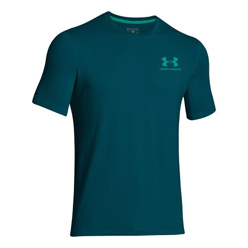 Mens Under Armour Charged Cotton Sportstyle Left Chest Logo T Short Sleeve Technical Tops - ...