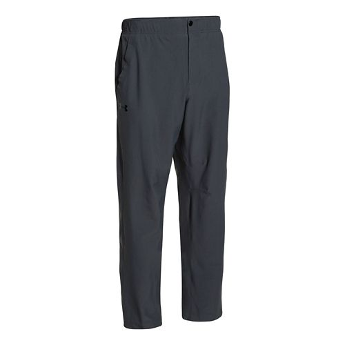Mens Under Armour Prospect Woven Full Length Pants - Anthracite XS-R