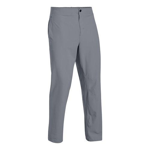 Mens Under Armour Prospect Woven Full Length Pants - Steel XS-R