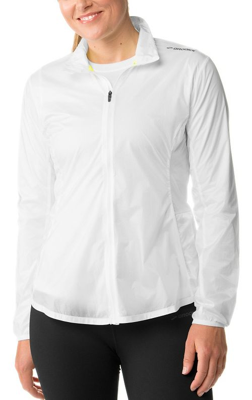 Womens Brooks LSD Lightweight Jackets - White XL